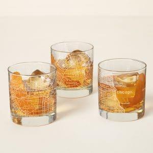 Urban Map Whiskey Glass