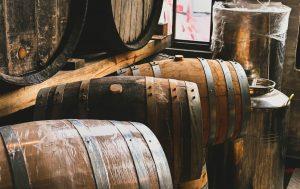 Variety of whiskey barrels